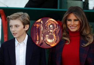 Barron Trump oslavil 13. narozeniny.