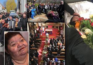 Pohřeb zpěvačky Věry Bílé (†64) v Rokycanech byl velkolepý.