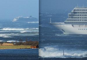 V Norsku proběhla evakuace 1300 pasažérů z výletní lodi