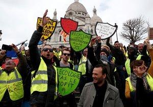 Ve Francii pokračovaly protesty žlutých vest. (23.3.2019)