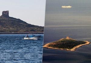 Ostrov Isola delle Femmine je na prodej