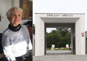 Zdena Mašínová usiluje o exhumaci ostatků své maminky. Magistrát Prahy přislíbil, že ji bude na Ďáblickém hřbitově hledat.