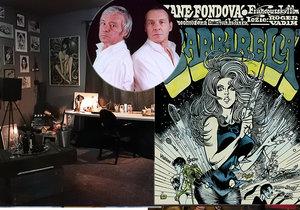 Výstava krále českého komiksu Káji Saudka (†80): Plakáty i ženami »pokreslil« tři patra!