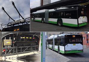 """Plzeňská """"housenka"""" bude brázdit pražské ulice: Mezi Palmovkou a Letňany vyzkouší nový trolejbus"""