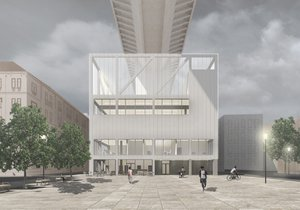 Basket na střeše domu v Nuslích i moderní pavlač: V Praze 2 se představují naděje české architektury