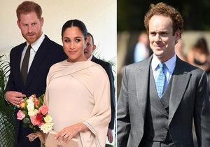"""Princ Harry se kvůli manželce Meghan Markle přestal kamarádit s přítelem z dětství Tomem """"Skippym"""" Inskipem."""
