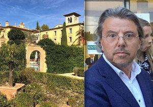 Honosné Diterovo sídlo ve francouzském Grasse musí k zemi. Milionář ho postavil bez povolení.