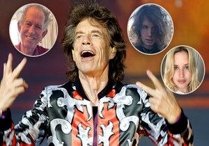 Micku Jaggerovi, který je nemocný, posílají kamarádi a děti vzkazy.