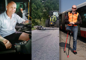 Aleš strávil podstatnou část svého života za volantem nebo za řidítky motocyklu. Své vášně se nevzdal ani po těžké dopravní nehodě, která mu vzala pravou končetinu. Dnes vozí cestující v pražské MHD.