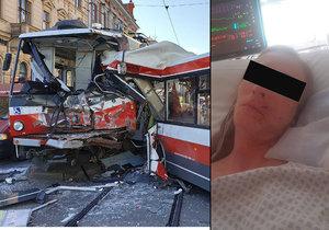 Simona Ševčáková (32) utrpěla při nehodě tramvaje a trolejbusu v Brně zlomeninu lícní kosti a posunula se jí i čelist.