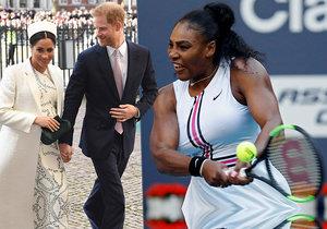 Serena Williamsová prozradila, že Meghan a Harry čekají...