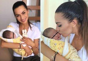 Eliška Bučková ukázala miminko! Budu tě milovat a chránit, slibuje.