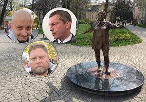 Už i radní města Ostravy řekli naplno: Sochu Špinarové chceme pryč, ale autor musí kývnout.