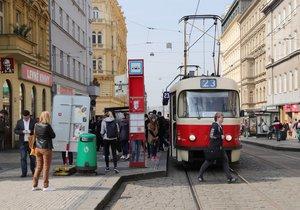 I. P. Pavlova je podle policejních statistik nejnebezpečnější tramvajovou zastávkou v Praze.