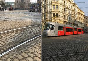 Po dobu více než jednoho měsíce se bude opravovat tramvajová trať na křižovatce Strossmayerova náměstí v Praze 7.