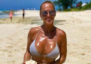 Zuzana Belohorcová na dovolené na Bahamách