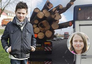 Klády propíchly autobus, Matěj (8) zachránil Elišce (9) život: Malý hrdina dostal ocenění