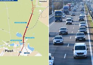 Na okraji Plzně se staví: Mezi Třemošenským rybníkem a Orlíkem roste nová silnice