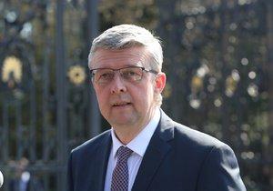 Prezident Zeman přijal v Lánech Karla Havlíčka (15.4.2019)