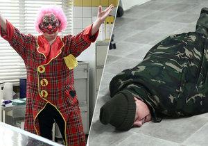 Tomicová jako hororový klaun: Zounar šel do mdlob.