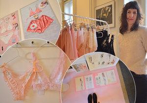 Prague Design Week představuje nápadité, nejenom, české tvůrce. Jednou z nadaných dam, které potkáte v domě na náměstí Republiky, je Dominika Charousová, která vytváří krajkové sexy prádlo Negližé.