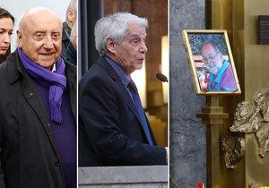 Pohřeb muzikanta Jana Václavíka (†75): Přišel i Slováček s milenkou, Petra Janů chyběla!