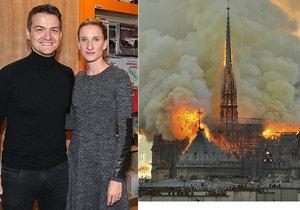 Manžel Adely Banášové Viktor Vincze znehodnotil shořelou katedrálu Notre-Dame v Paříži.