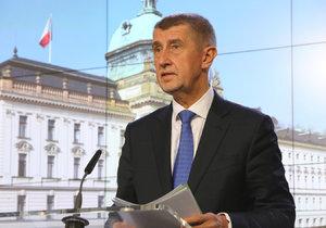 Andrej Babiš po jednání vlády