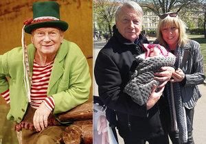 Pohádkový vodník Josef Dvořák (77) se raduje z miminka! Stal se poprvé pradědečkem!