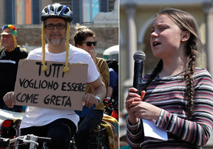 Greta (16) bojuje za lepší klima. Energii do mikrofonu jí vyrobilo 120 cyklistů