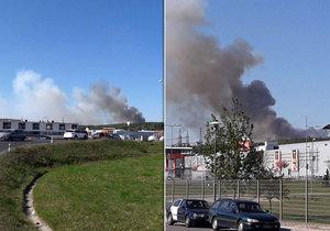 V Plzni vypukl požár.