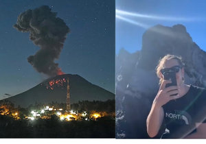 Na Bali o Velikonocích explodovala sopka Agung, turisté na kráter přesto šplhají