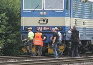 Strojvůdce se rozhodl vyskočit z vlaku v rychlosti 50 km/h (ilustrační foto).