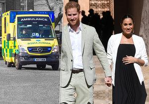 K domu těhotné vévodkyně Meghan a prince Harryho přijela sanitka. Už nastal porod?