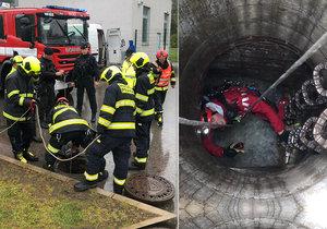 Do kanálu v Praze 6 spadl dělník.