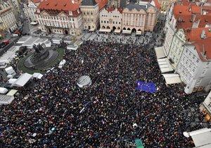 Protest proti Andreji Babišovi a Marii Benešové v Praze (29. 4. 2019)