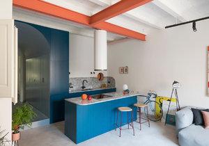 Stylový domov v Barceloně vznikl rekonstrukcí původně velmi stísněného příbytku v havarijním stavu