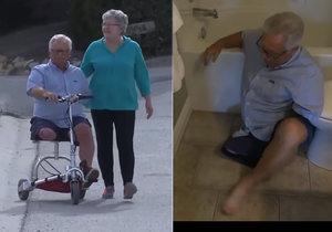 Invalidovi zabavili na letišti baterii do mobilního skútru.