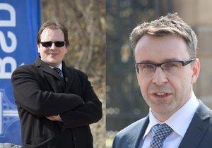 Jan Kroupa (vlevo) na pokud ministra Vladimíra Kremlíka (za ANO) skončil jako šéf Ředitelství silnic a dálnic