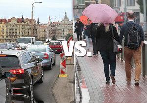 Kdo nadýchá víc škodlivých zplodin? Řidič automobilu nebo cestující MHD?