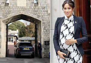 Meghan už porodila!? Podle svědků už je miminko na světě! Prozradila ji policejní eskorta.