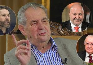 Prezident Zeman v pořadu Blesku Hovory z Lán mluvil i o jménech, která plánuje tento rok ocenit státním vyznamenáním (5. 5. 2019)