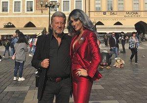 Sisa s manželem v Praze