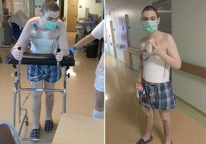 Mladý Aleš (16) měl mrtvici: Lékaři s vytřením otáleli a on je teď ochrnutý. Město pořádá sbírku