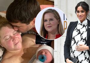 Komička Amy Schumerová se posmívala Meghan! A pak své první miminko porodila o pár hodin před ní.