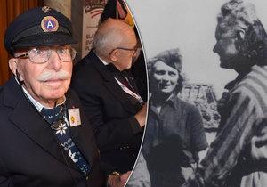 Před 74 lety belgický veterán Louis Gihoul (96) osvobozoval západní Čechy. Jednou z nich byla i Marguerite Michelinová (zcela vpravo).
