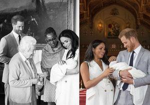 Malého Archieho přivítala královna.