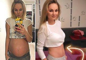 Fajksová dva měsíce od porodu vypadá skvěle!