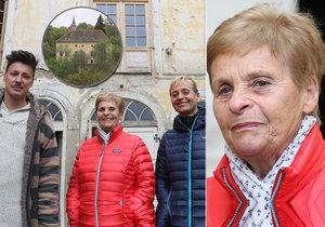 Bývalá restituentka navštívila zámek v Osečanech