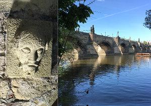 Bradáč pod Karlovým mostem je nejstarším vodočtem v Praze.